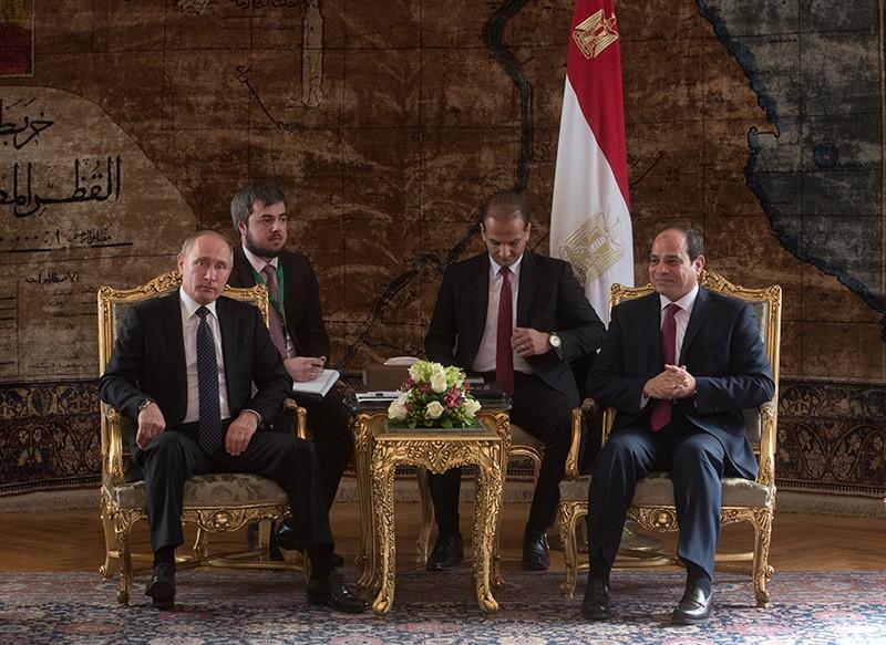 Президент России Владимир Путин и президент Египта Абдельфаттах Сиси