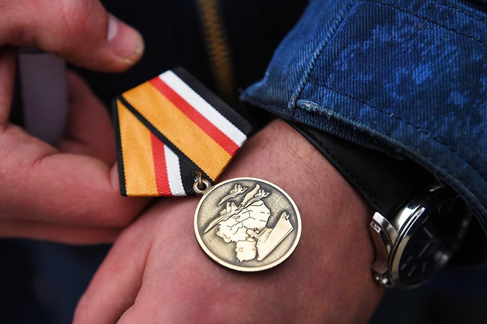 Медаль за выполнение операции по освобождению Сирии от террористов