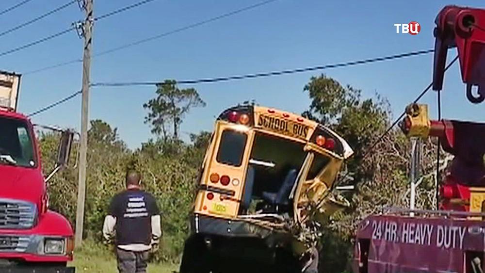 ДТП с участием школьного автобуса в США