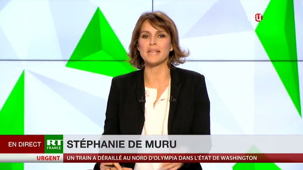 Ведущая RT France Стефани де Мюрю