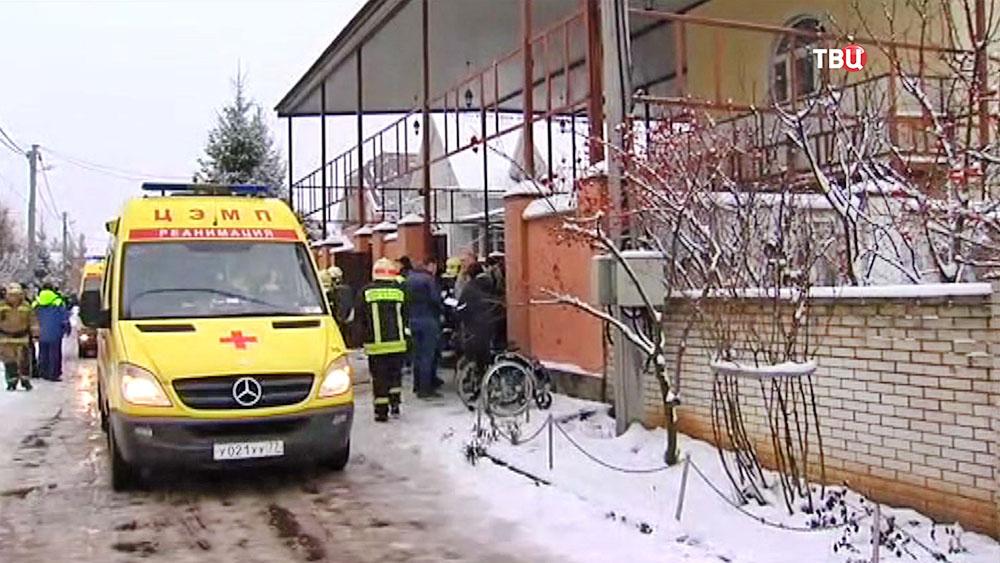 Последствия пожара в пансионате в Новой Москве