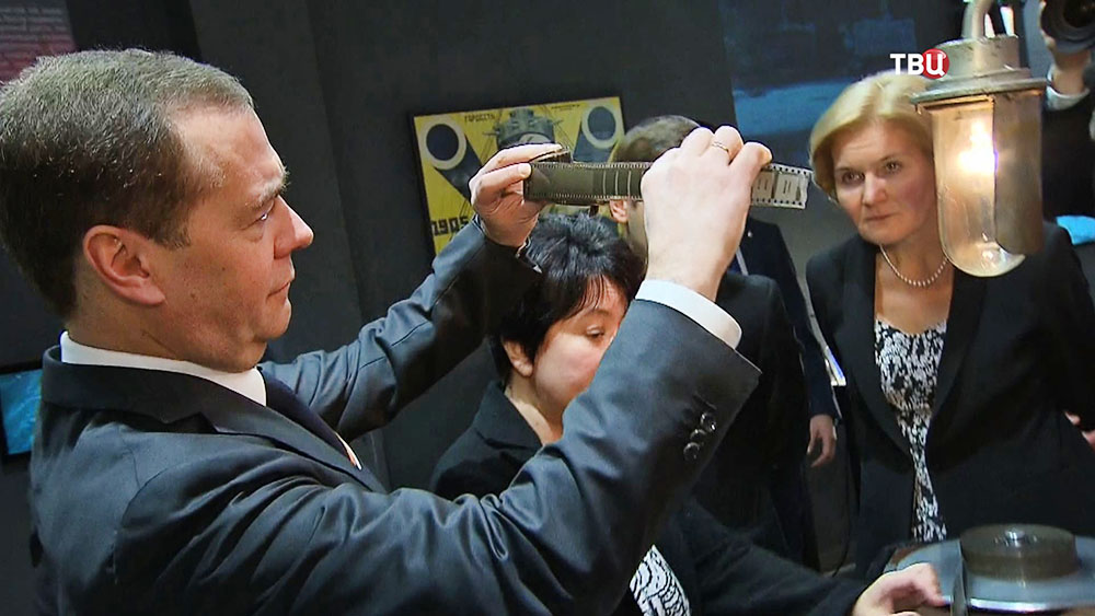 Дмитрий Медведев посетил Государственный центральный музей кино