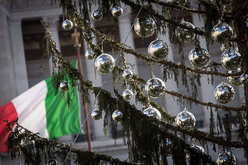 Новогодняя елка в Риме