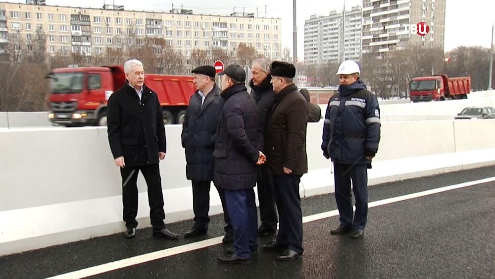 Сергей Собянин на открытии развязки