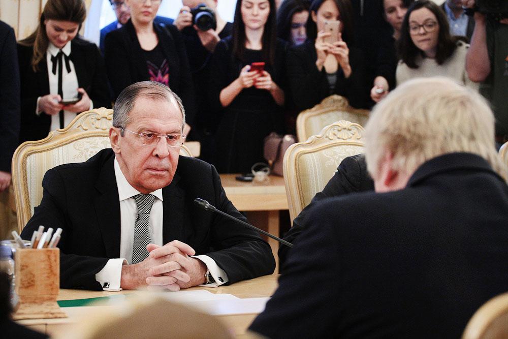Сергей Лавров и Борис Джонсон