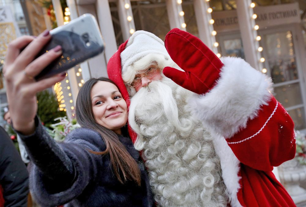 """Санта Клаус на фестивале """"Путешествие в Рождество"""""""