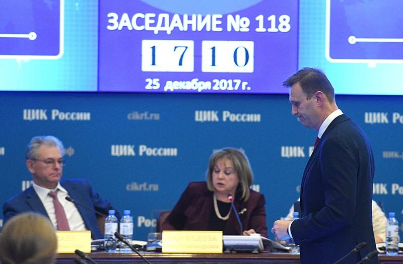 Алексей Навальный на заседании ЦИК