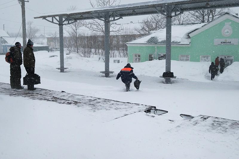 Снегопад на Сахалине