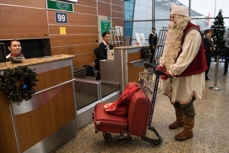 "Финский Дед Мороз в аэропорту ""Шереметьево"""