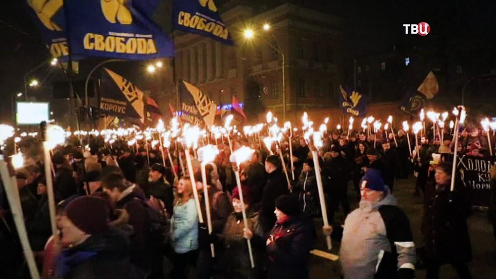 Факельный марш украинских радикалов
