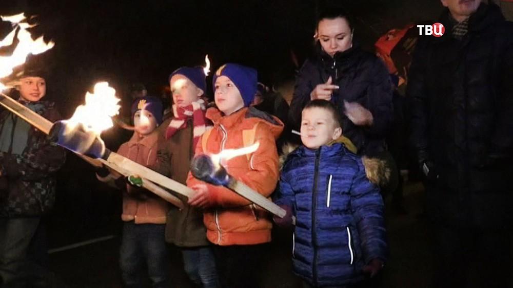 Дети на марше украинских радикалов