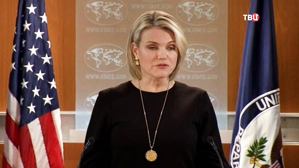 Официальный представитель Госдепа США Хизер Нойерт