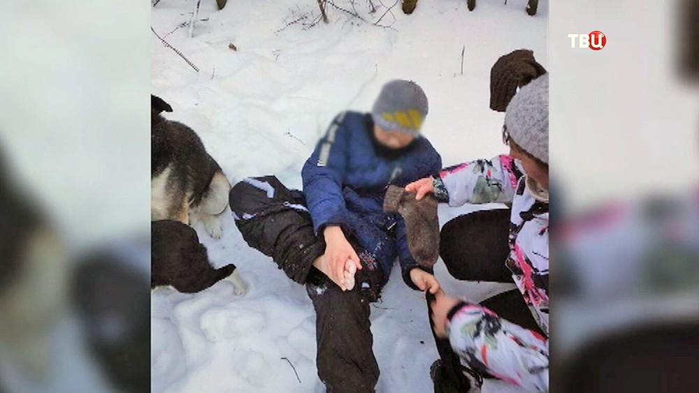 Найденные в лесу пропавшие подростки