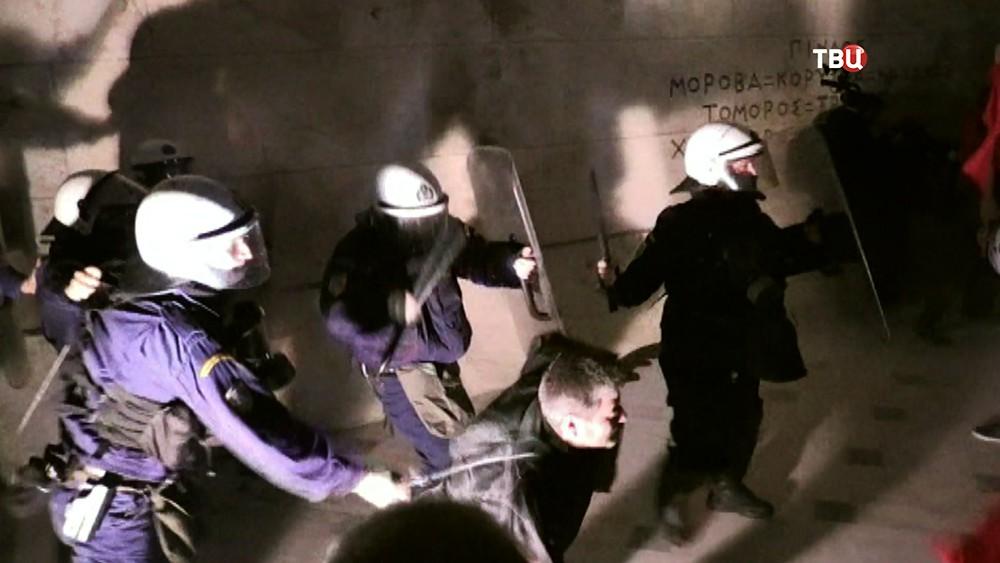 Полиция Греции разгоняет демонстрантов