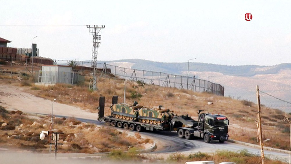 Передача военной техники США курдам в Сирии