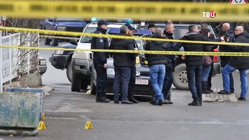 Место убийства сербского политика Оливер Иванович в Косове
