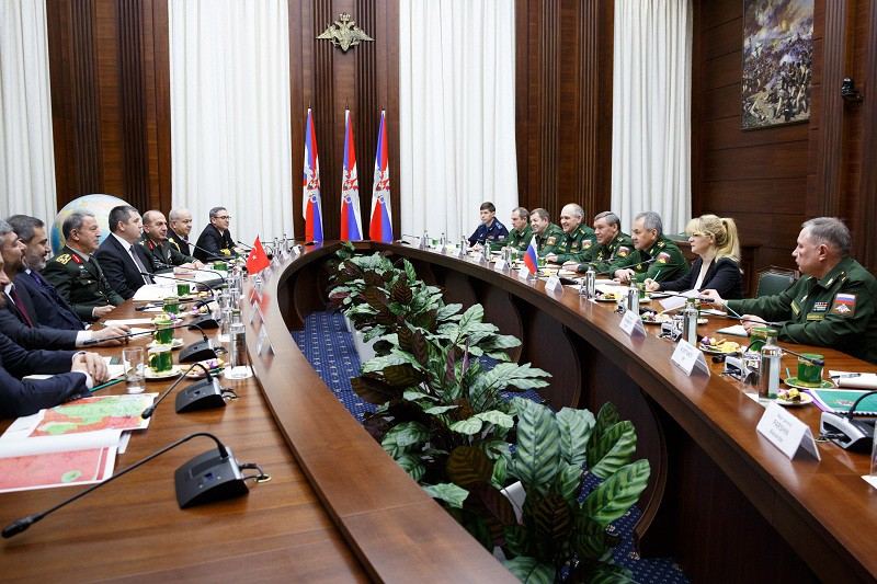 Встреча российских военных с турецкой делегацией в Москве