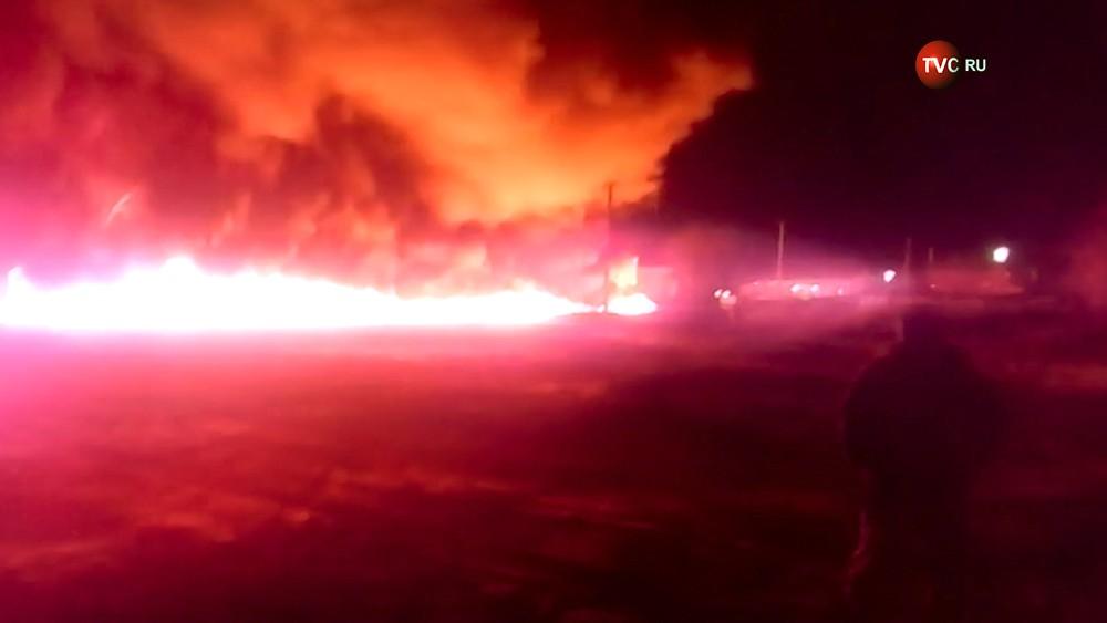 Пожар на нефтепроводе