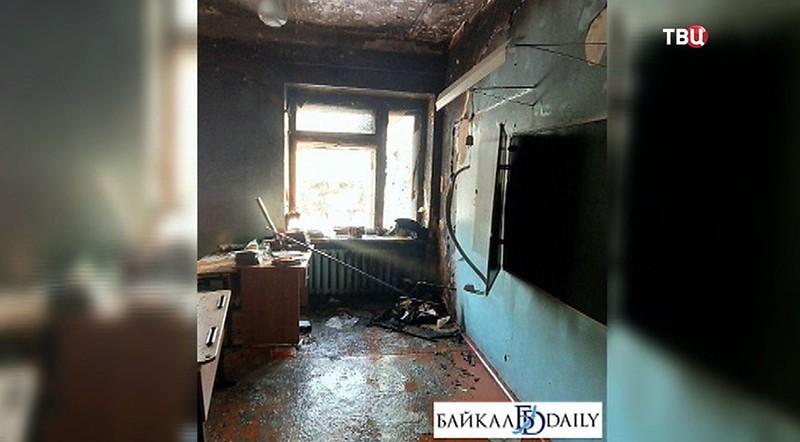 Последствия пожара в Бурятии