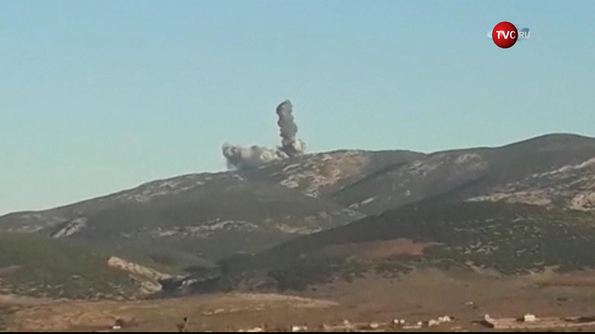 Авиаудары ВВС Турции по позициям террористов на территории Сирии