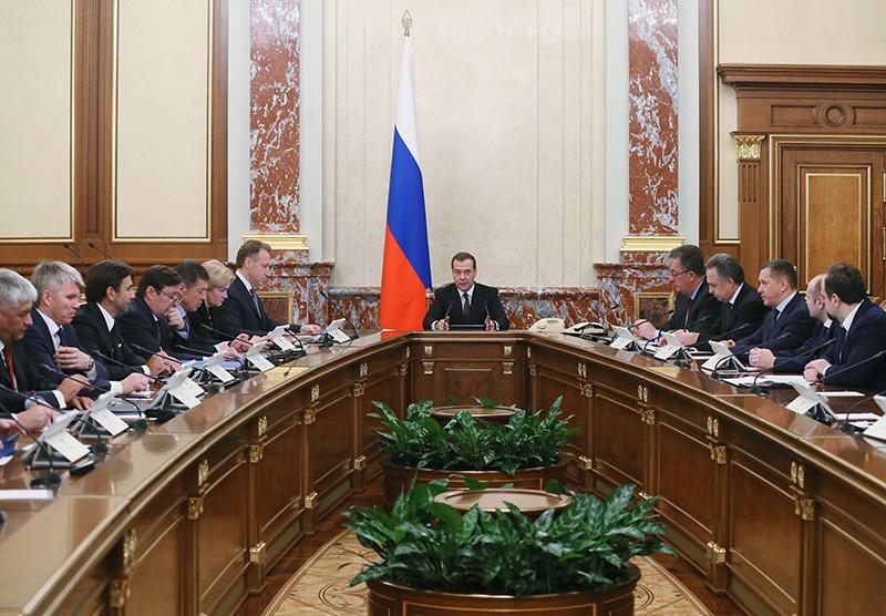 Дмитрий Медведев проводит заседание кабинета министров