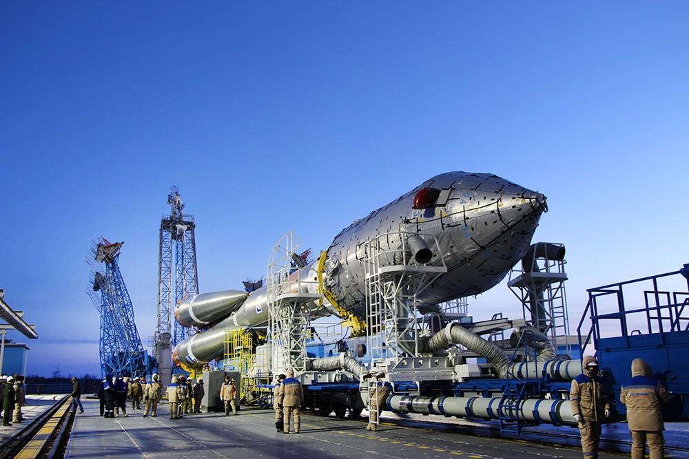 """Подготовка к запуску ракеты-носителя """"Союз 2.1а"""""""