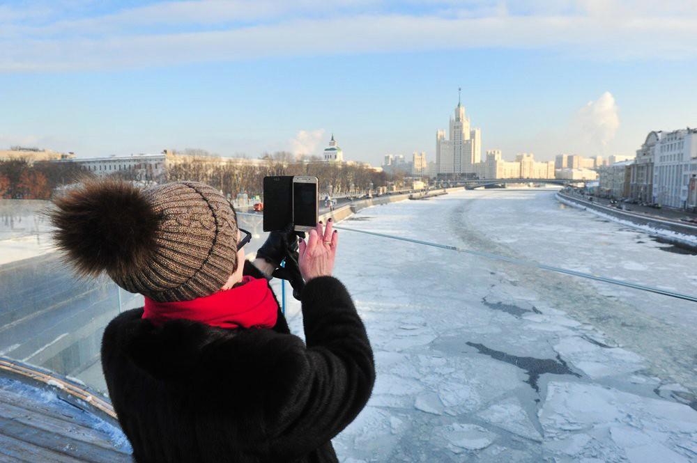 Морозная погода в Москве