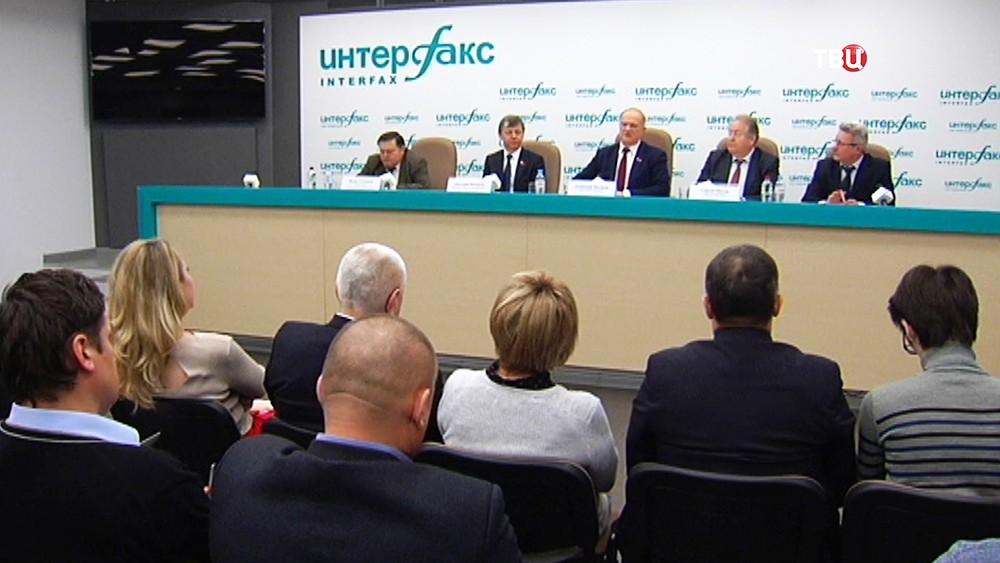 Пресс-конференция лидера партии КПРФ Геннадия Зюганова