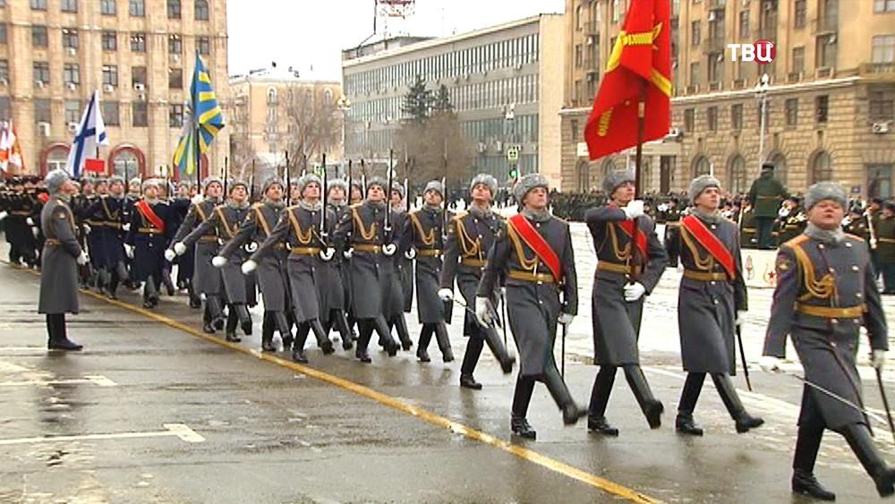 Репеиция парада в Волгограде