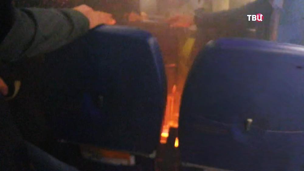 Возгорание на борту самолета