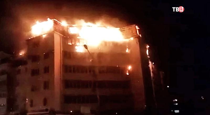 Пожар в Приморском крае