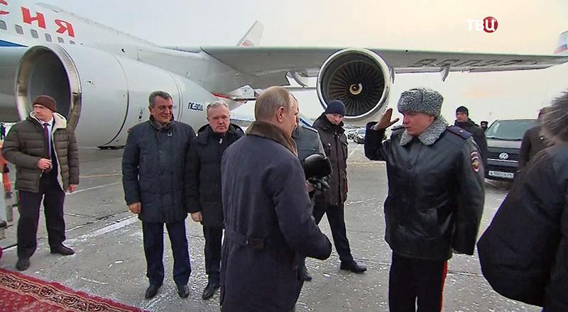 Владимир Путин прибыл в Красноярск