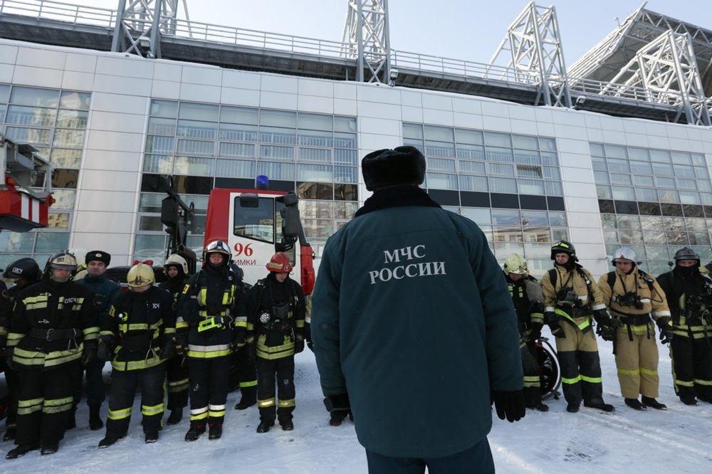 Пожарно-тактическое учение в рамках подготовки к чемпионату мира по футболу FIFA 2018