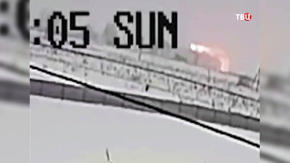 Момент катастрофы Ан-148