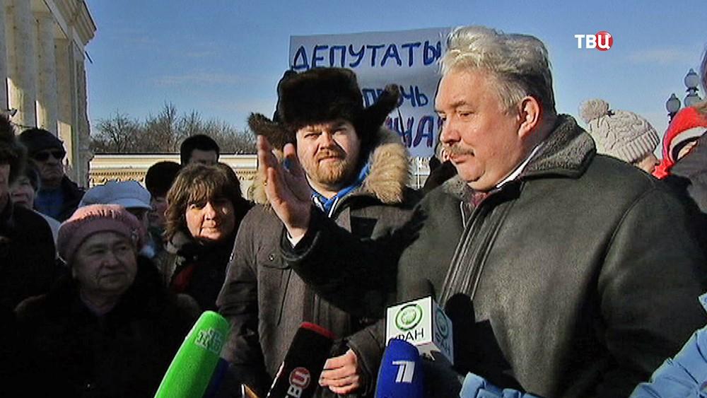 Сергей Бабурин на встрече с жителями