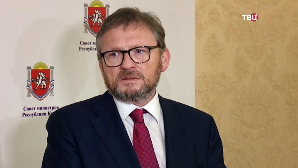 Кандидат в президенты России Борис Титов на пресс-конференции в Крыму