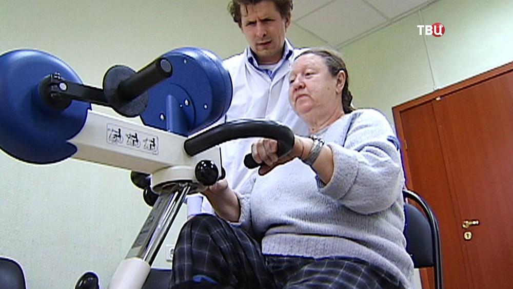 Пенсионеры занимаются спортом