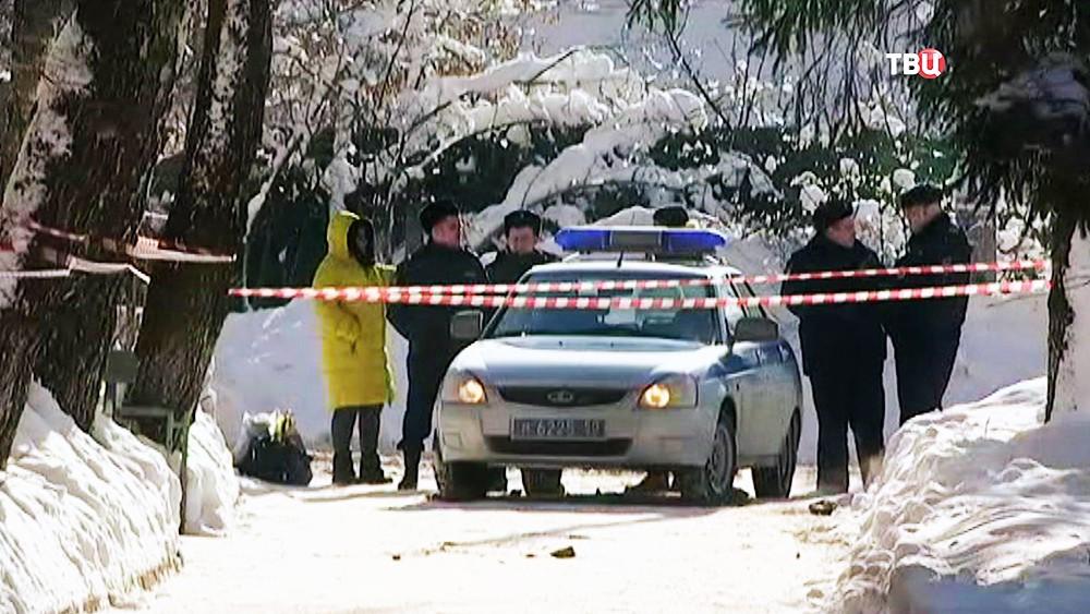 Полиция Подмосковья на месте происшествия