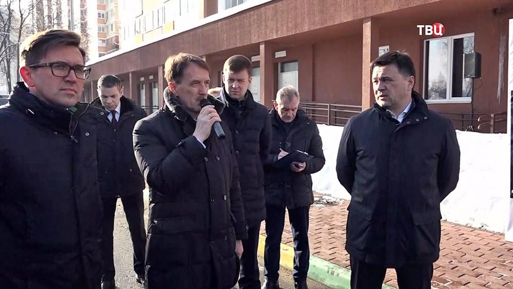 Полпред президента в ЦФО Алексеем Гордеевым и губернатор Московской области Андрей Воробьев