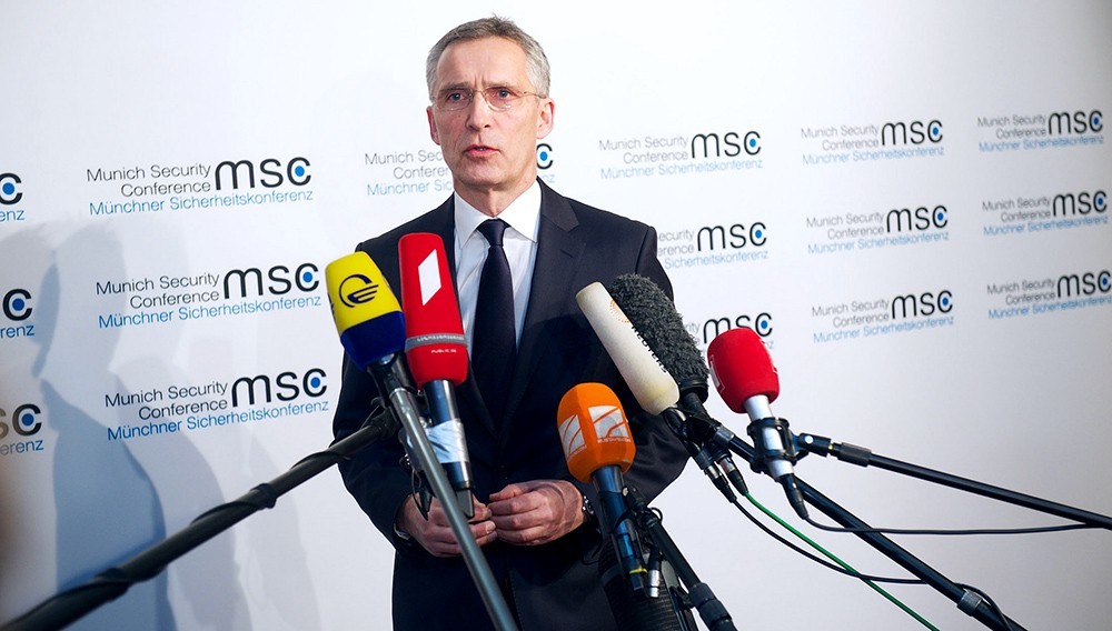 Йенс Столтенберг на международной конференции по безопасности в Мюнхене