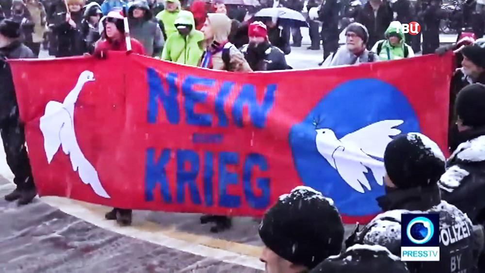 Митинг анархистов в Мюнхене