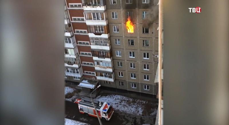 Пожар в Челябинске