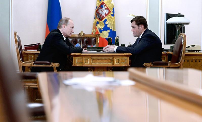 Владимир Путин и Алексей Мордашов во время встречи