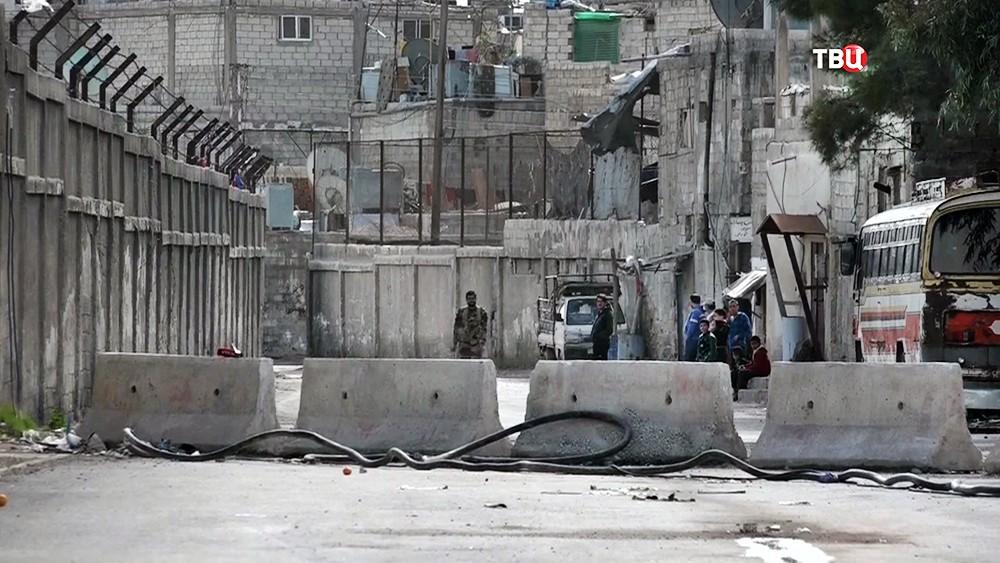 На границе с Восточной Гутой в Сирии