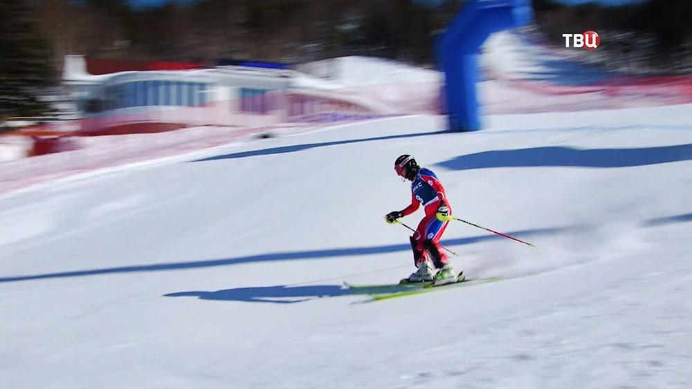 Паралимпийцы на горнолыжном склоне