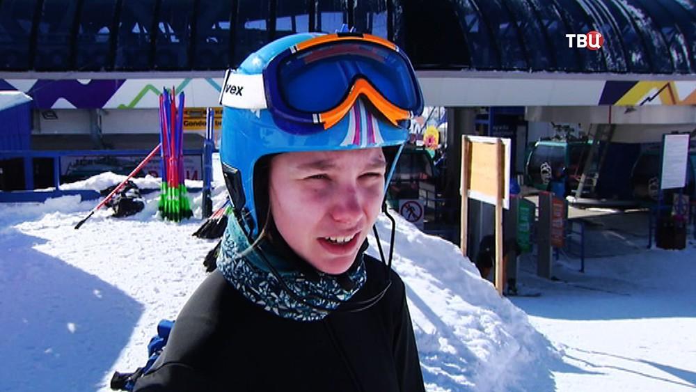 Российская горнолыжница Анастасия Хорошева