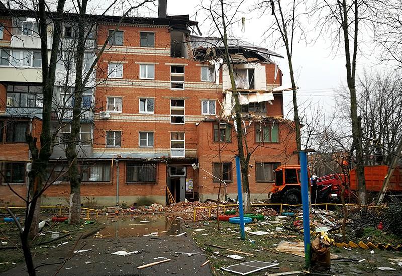 Жилой дом на Славянской улице в Краснодаре, где произошел взрыв газа