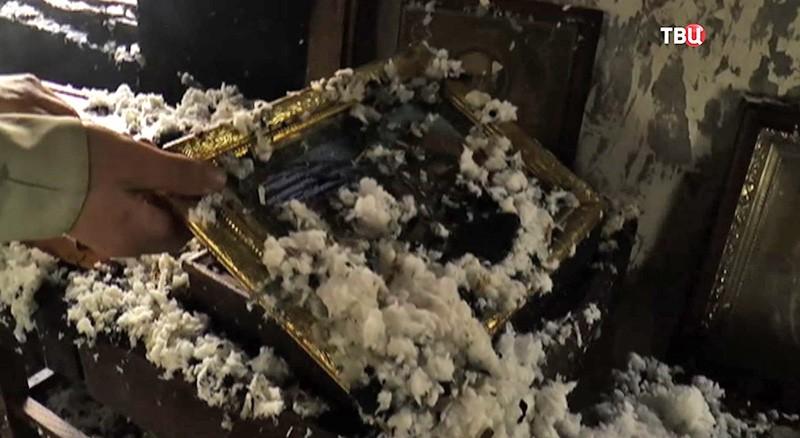 Последствия поджога храма Преображения Господня в Киеве
