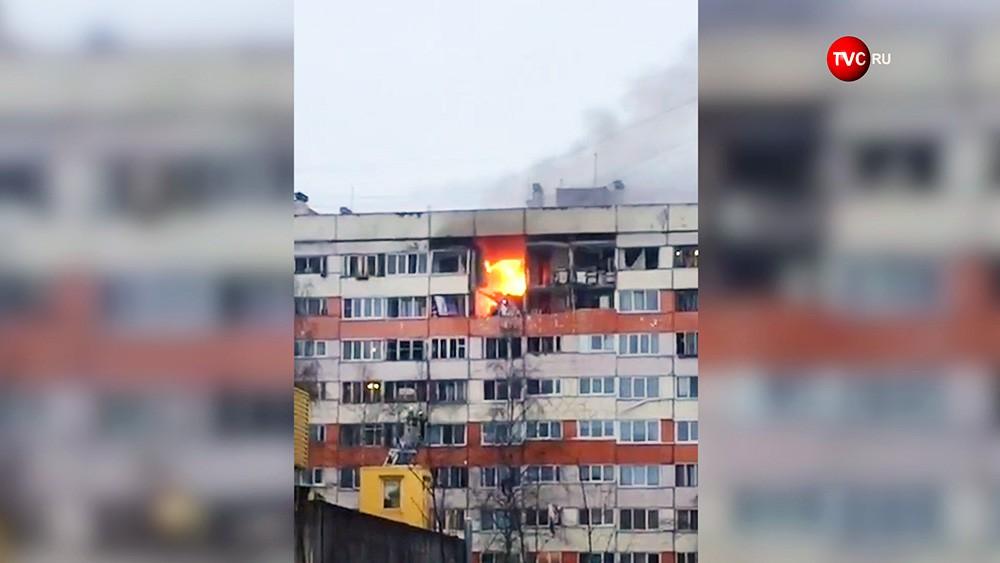 Последствия взрыва газа в многоквартирном доме в Санкт-Петербурге