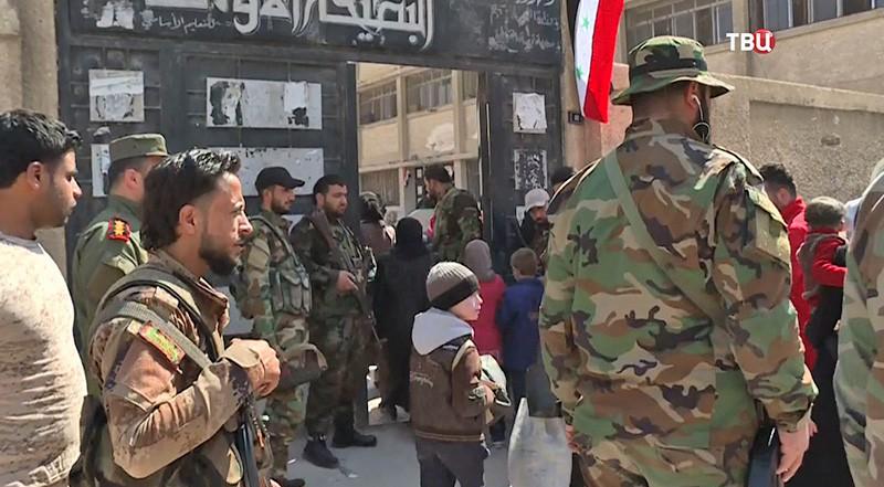 Жители Сирии